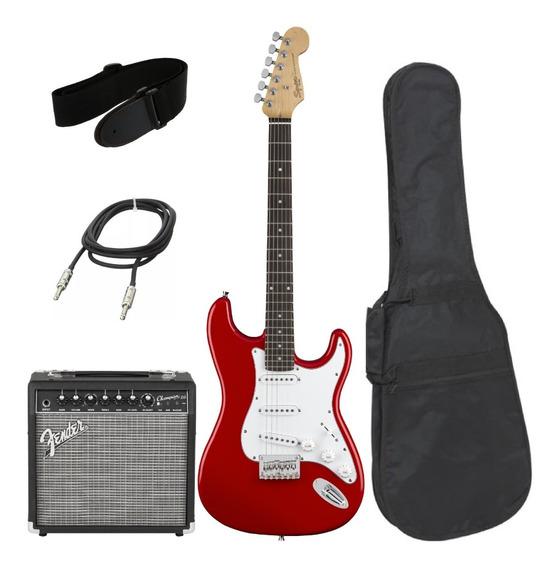 Combo Guitarra Eléctrica Squier + Amplificador Fender De 20w