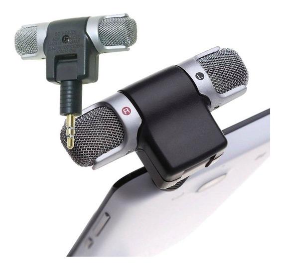 Microfone Stereo P2- Gopro Tablets Celulares Notbook - Novo