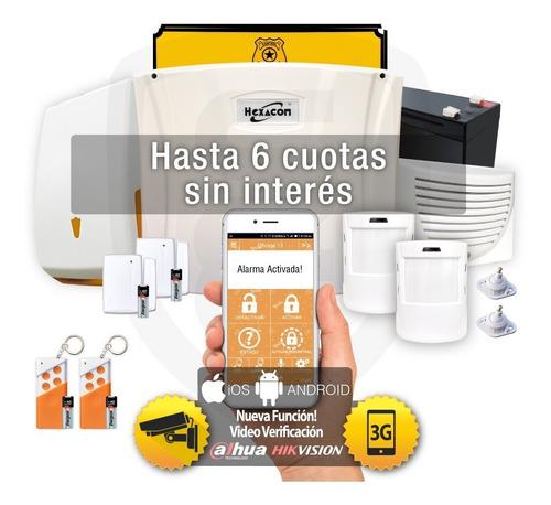 Alarma Domiciliaria Inalambrica Acuda H210 3g Gsm Kit 03b