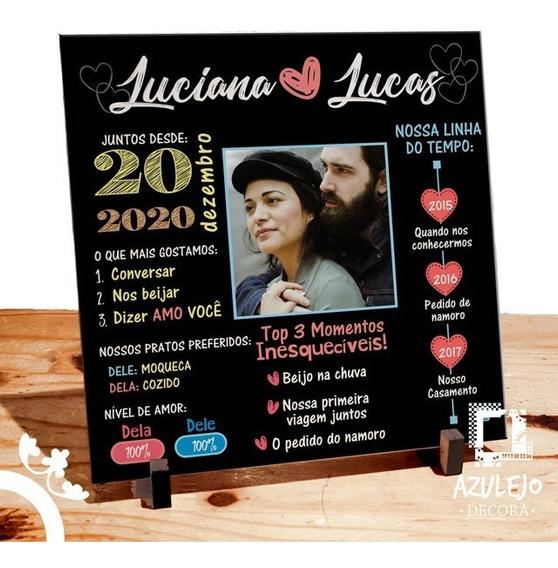 Azulejo Personalizado História Dos Namorados Com Foto