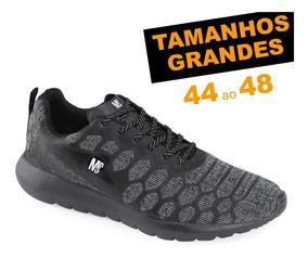 Tênis Ms Fly 4507 Tamanhos Grandes 44 45 46 47 48 Jogging