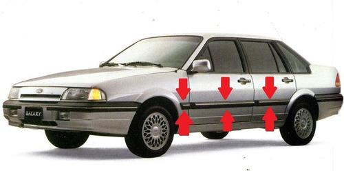 Moldura Lateral Ford Galaxy Gruesas Bagueta C/ Vira Plateada