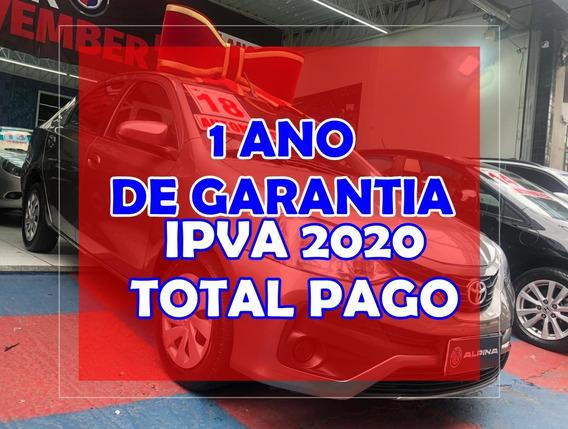 Toyota Etios Xs Auto 1 Ano De Garantia E Ipva 2020 Grátis