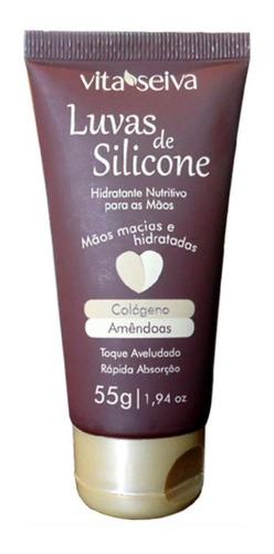 Luvas De Silicone Hidratante Colágeno Amêndoas 55g