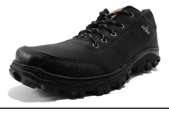 Zapatillas Trekking Wake Impermeables Negro