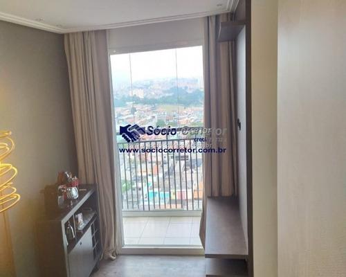 Imagem 1 de 15 de Vendo Apartamento 57 M² - Cond. Fatto Vila Rio - Apartamento A Venda No Bairro Jardim Las Vegas - Guarulhos, Sp - Sc00999