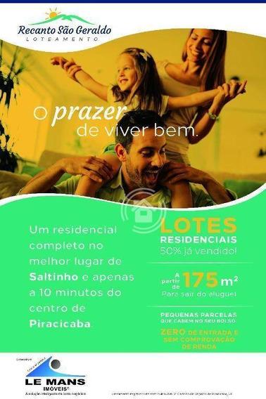 Terreno À Venda, 175 M² Por R$ 70.875,00 - Jardim Nossa Senhora Aparecida - Saltinho/sp - Te0307