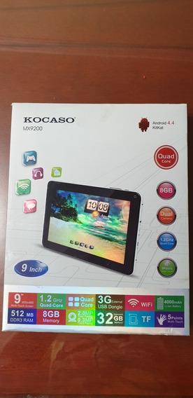 Tablet 9 Pulgadas Marca Kocaso Modelo Mx9200