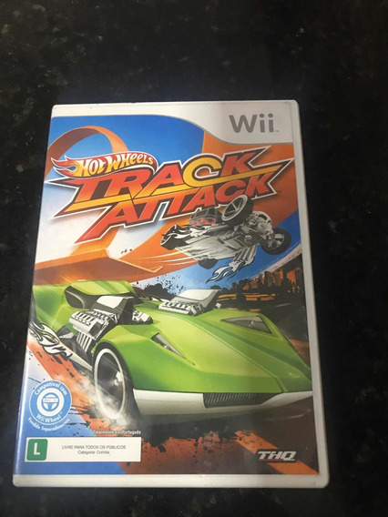 Jogo Wii Hot Wheels Track Attack Original Mídia Física