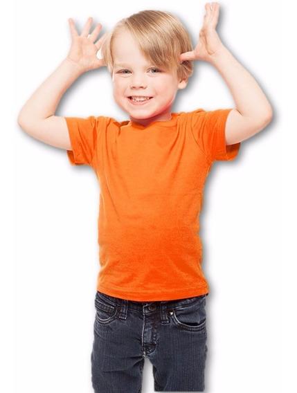Playera Algodon 100% Naranja De 1 A 6 Años