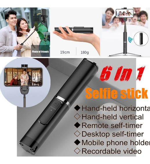 Bluetooth Telefone Celular Selfie Vara Monopé Tripé Viagem C