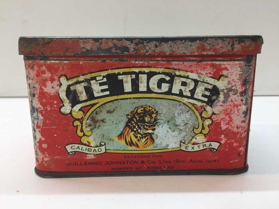 Antigua Lata De Té Tigre