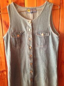 Vestido Largo De Jeans Abotonado Talla S/m