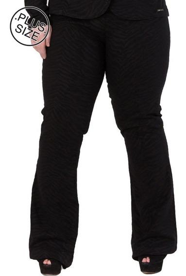 Calça Jeans Flare De Sarja Com Elastano Caj178