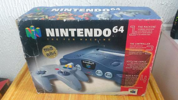 Nintendo 64 - Com Mario 64 - Console Completo Manuais