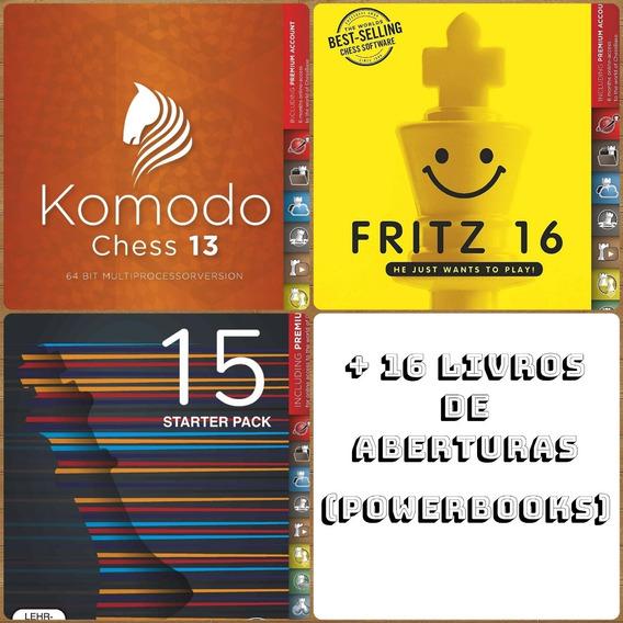 Programas De Xadrez Fritz 16 Komodo 13 + Chesbase 15 + Bonus