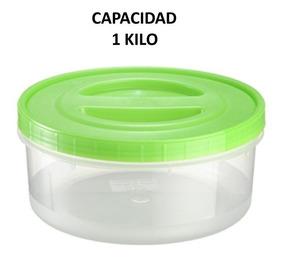 Tortillero Hermético Plástico Capacidad 1 Kg 12 Piezas