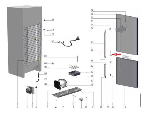 Fixador Puxador Da Porta Electrolux Geladeira Db52 Tf51 Tf52