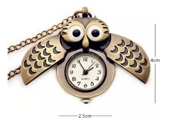 Collar Reloj Con Forma De Búho