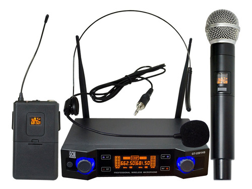 Microfono Inalambrico Doble - Mano + Vincha - Gt-2201hs Gcm