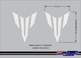 Adesivo Decorativo Mt-03 07 01 09 Refletivo Yamaha 12x10cm