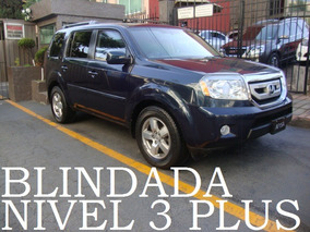 Honda Pilot 2011 Blindada Nivel 3 Plus Blindaje Blindados