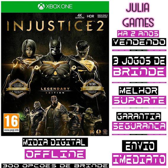 Injustice 2 Edição Lendaria Xbox One Digital Offline+ Brinde