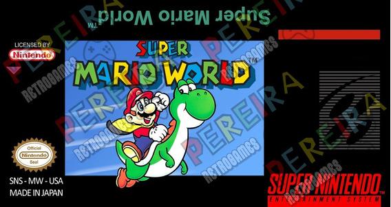 Label Super Mario World -snes Alta Qualidade (tenho Outras)