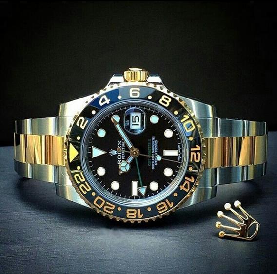 Relógio Gmt Automático Safira Inoxidável Pronta Entrega