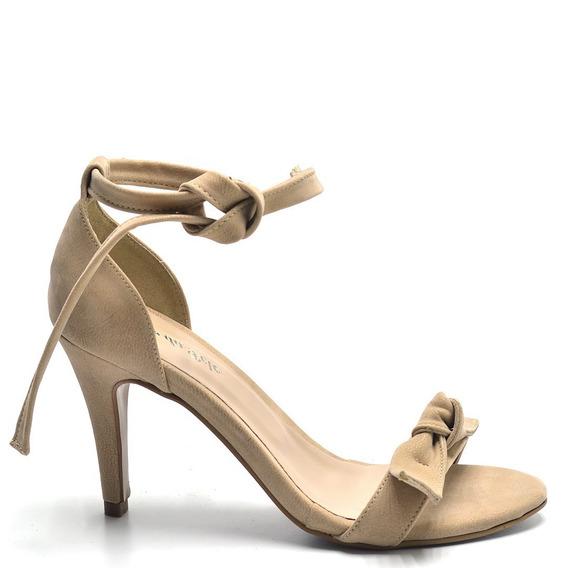 Sandália Salto Alto Laço Nova Coleção