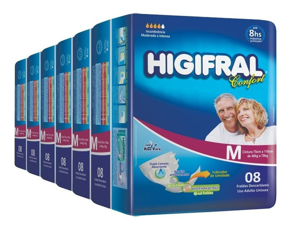 Fralda Geriátrica Higifral Confort - 6 Pct.