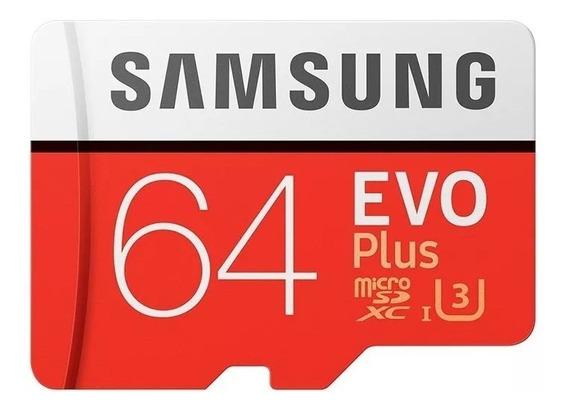 Cartão De Memória Samsung Micro Evo Plus 64 Gigas Classe 10