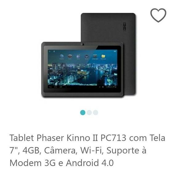 Tablet Phaser Kinno Ii Pc - 713 Com Tela 7 , 4gb, Câmera, W