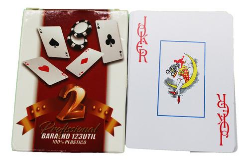 Baralho 100% Plástico Prova D'água Poker Truco Profissional