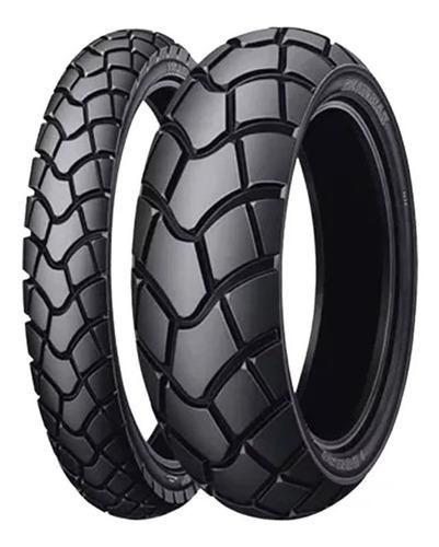 Imagen 1 de 4 de Cubierta Juego Combo Dunlop Tornado 120 80 18 + 300 21 D604 Rider Pro  ®