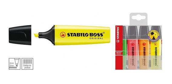 Caneta Marca Texto Stabilo Boss 4 Cores