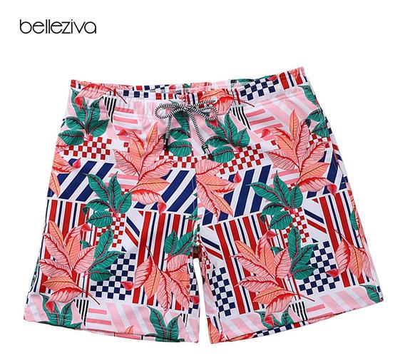 Hombres Shorts De Playa De Secado Rápido Shorts De Baño Im