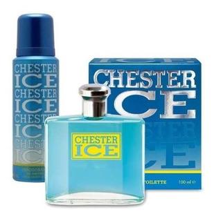 Perfume Hombre Chester Ice Eau Toillete 100ml + Desodorante
