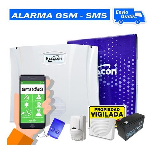 Kit Alarma Domiciliaria H210 Inalambrica Cableado Gms Sms A1