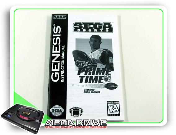 Manual Prime Time Nfl Original Sega Mega Drive / Genesis