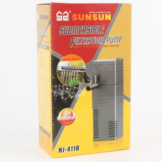 Filtro Interno Com Bomba Sunsun Hj-411b 300 L/h