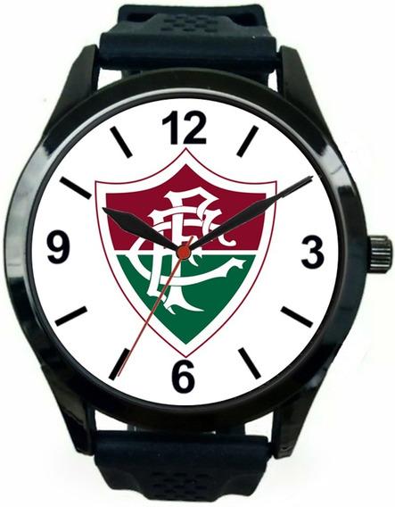 Relógio Pulso Fluminense Barato Promoção Masculino Esportivo