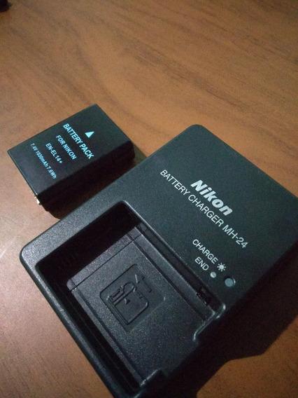 Bateria En-el14 Para Nikon D5300 D5200 D5100 + Carregador