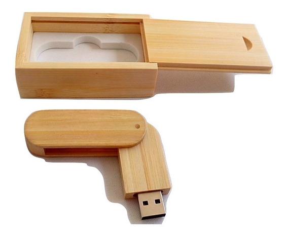 Pen Drive 16gb Personalizável De Madeira Peça N° 2