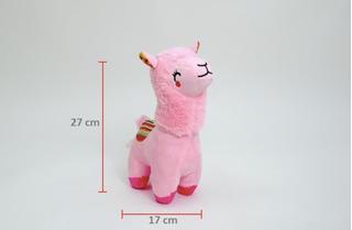 Llama De Peluche Tierna Rosa 27cm 100% Poliester