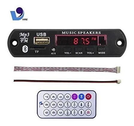 Modulo Adaptador Mp3 Bluetooth Usb Sd Fm Control Remoto