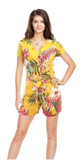 Vestido Jumper Con Jareta Botones Y Bolsas Moda Primavera