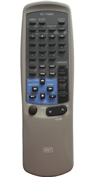 Controle Aiwa Rctn999 1 Cd Carrossel 3 Cds Com Karaokê C0100