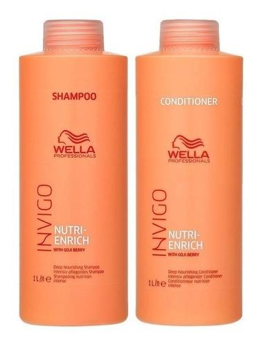 Kit Wella Enrich Invigo Shampoo + Condicionador 1000 Ml
