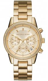 Relógio Michael Kors Feminino Ritz Cronógrafo Mk6356/4bn
